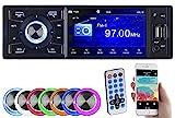 Creasono 1DIN Radio: MP3-Autoradio mit TFT-Farbdisplay, Bluetooth, Freisprecher, 4X 45 Watt (Autoradio DVD)