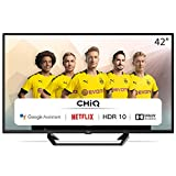 CHiQ L42G6F Neuste Version Modelljahr 2020 | TV 42 Zoll Full Hd Smart TV (105cm) Fernseher Rahmenlos Android TV Smart TV/Android 9.0-Google Assistent/Sprachsuche-2K FHD(1920*1080) | HDR10-Dolby