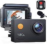 MVOWIZON Action Cam A79,4K WiFi 20MP Unterwasserkamera Digitale wasserdichte 40M Helmkamera (2.4G Fernbedienung und Webcam mit externem Mikrofon)(Qualitätssicherung)