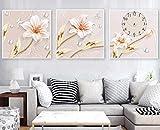 Wallpaper M Moderne minimalistische kleine frische Reliefblumenuhr Dekoration Malbreite 50 x Höhe 50 cm