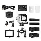 Monsterzeug Schwarze wasserdichte Action-Cam Ultra HD 4K mit Helmhalterung und integriertem Mikrofon, HDMI Ausgang und WLAN