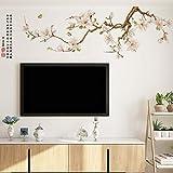 whmyz Chinesische Art TV Hintergrund Wandaufkleber Selbstklebende Wohnzimmer Sofa Wandtattoo Magnolie Nordic Poster Schlafzimmer Dekor Wandb