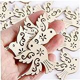Onsinic 10 Stücke Hölzerne Vogel-Chips Tauben-geformte Verschönerungsteile Für Scrapbooking-handgriffe-kartenherstellung Hanging-Tag