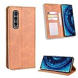 Snow Color Oppo Find X2Pro Hülle, Premium Leder Tasche Flip Wallet Case [Standfunktion] [Kartenfächern] PU-Leder Schutzhülle Brieftasche Handyhülle für Oppo Find X2 Pro - COBYU010898 B