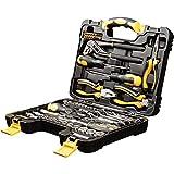 WMC TOOLS Werkzeug Set Werkzeugkoffer 65-teilig Haushalt Kfz Werkzeuge Koffer Werkzeugset Werkzeugkasten gefüllt Werkzeugkiste Männer Frauen Steckschlüssel Schraubendreher Ratschen