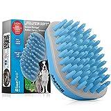 Bluepet® FellFein Soft Gummistriegel für kleine Hunde & Katzen mit Massageeffekt   Entfernt Loses Deckhaar, Fell, Staub & Schmutz   Bürste mit speziellen Gumminoppen auch als Badebürste