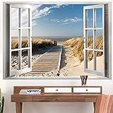 murando - Designer Poster XXL 140x100 cm - beidseitig laminiert - Plakat - Anschlag - Wanddekoration - Reiss- & wischfest - Wohnzimmer Schlafzimmer Kinderzimmer Büro - Fensterblick c-C-0179-af-a