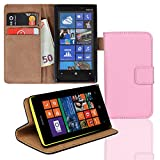 EximMobile Brieftasche Handytasche Flip Case Etui für Nokia Lumia 630 / 635 Rosa