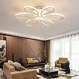 -Wasserfest Deckenleuchten Led Deckenleuchte, Schlafzimmer leuchtet warme romantische Ehe Zimmer Haushalt Blume Form Master Schlafzimmer Lampen Deckenlampe (Color : White light)