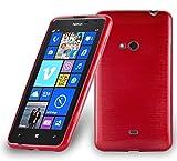 Cadorabo Hülle für Nokia Lumia 625 in ROT - Handyhülle aus flexiblem TPU Silikon - Silikonhülle Schutzhülle Ultra Slim Soft Back Cover Case Bumper