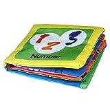 Senmubery Kinder Fruehfoerderung Weiches Tuch, Papier, Lernen, Intelligenz, Kinder Bilderbuch (Zahlen)