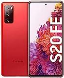 Samsung Galaxy S20 FE, Android Smartphone ohne Vertrag, 6,5 Zoll Super AMOLED Display, 4.500 mAh Akku, 128 GB/ 6 GB RAM, Handy in Rot inkl. 36 Monate Herstellergarantie [Exklusiv bei Amazon]