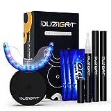 Zahnaufhellung, OUZIGRT Teeth Whitening Kit mit 32X LED Rot&Blau Licht und 3 Bleaching Stift, Zähne Bleaching Set für Bleaching Zähne & Weiße Zähne zu Hause