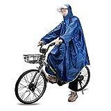 MAGARROW Outdoor Regenponcho Wasserdichter Leichter Regenmantel Poncho mit Verstellbarer Kapuze Regencape Regenjacke für Herren Damen Outdoor Radfahren Wandern (Blau)