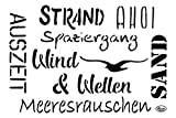 Schablone'Maritime Wörter' DIN A4 Malschablone Wandschab