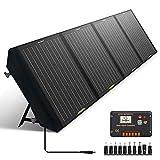 ECO-WORTHY 120W faltbares Solarpanel Ladegerät, tragbar für Wohnmobilbatterien Solargeneratoren, mit 20A Regler für SLA/Lithium-Tiefzyklusbatterien RV Camping in der freien Luft, für Reisen geeignet