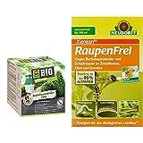 Compo Buchsbaumzünsler-Falle, Inkl. 3 Lockstoff-Dispenser, Insektizid-frei & Neudorff Raupenfrei Xentari 25g gegen Buchsbaumzünsler an Buchsbäumen