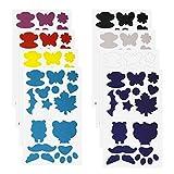 YINETTECH 8 Blätter Daunenjacke Selbstklebende Flicken Nylon Reparatur Band Aufkleber 8 Farben für Zelt Oberbekleidung Kleidung