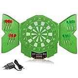 Elektronische Dartscheibe, E Dartboards Dartautomat Dartautomat Dartscheibe mit 12 Dartpfeile, Ersatzsspitzen, 27 Spielen und 243 Varianten für 16 Spieler GG