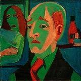 Art-Galerie Digitaldruck/Poster Ernst Ludwig Kirchner - Jan Wiegers - 50 x 50cm - Premiumqualität - Made in Germany