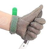 Metzger-Handschuh aus Edelstahl, Schnittschutz-Handschuh, Widerstandsgrad 5, mit PE-Gurt, schnittfest