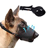 Homkeen Maulkorb für Hunde, weicher Maulkorb, verhindert Beißen, Bellen und Kauen, mit verstellbarer Schlaufe, atmungsaktives Netzgewebe, Größe M, Schw