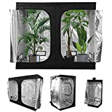 Ejoyous Growzelt, 600D Oxford 120 x 120 x 200 cm Grow Tent Indoor Growbox Indoor Anbauzelt Growschrank Darkroom Pflanzenzelt Gewächshaus Zuchtzelt mit Montagestangen für Homegrow(120X120X200CM)