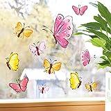 Wandtattoo-Loft Fensterbilder Frühling Pastell Schmetterlinge 10 Fensteraufkleber im Set wiederverwendbar Ostern