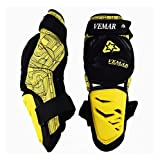 WSY Motorradschutz Männer Knieschutz Motocross-Gang-Kombination MX MTB DH Rennreiten -Styling Proteccion Moto Espalda (Color : Yellow)