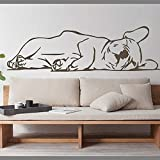 ZZLLL Französische Bulldogge Welpen Tier Wandtattoo Große französische Bulldogge Tier Haustier Wandaufkleber für Kinderzimmer Dekoration Vinyl Home Decor 58x18
