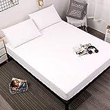 NHhuai Unterbett Soft-Matratzen-Topper, Matratzenschutz Boxspring-Betten geeignet Die Tagesdecke ist wasserdicht und maschinenwaschbar