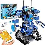 GP Toys Roboter Kinder Bausteine Spielzeug Programmierbar Ferngesteuert App-Gesteuertes STEM Technik Roboter Bausatz Mint Spielzeug für Kinder