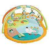 Fehn 071559 3-D-Activity-Decke Sleeping Forest / Spielbogen mit 5 abnehmbaren Spielzeugen für Babys Spiel & Spaß von Geburt an / Maße: 80x105cm