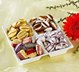 Seidenglanz-Bonbons (Nettogewicht 600g) vier Sorten - Wiener Krachmandeln, Schoko-Fourrèe, Mokka-Bohnen, Pfefferminzkissen. €16,58/kg