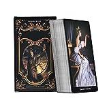 URNOFHW 78PCS Tarot-Karten-Brettspiel Card Deck for Familientreffen-Partei-Spielkarten (Color : Card)
