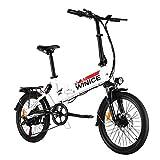 VIVI E-Bike Klapprad, 20' Elektrofahrrad, 350W Citybike Elektrisches Fahrrad mit herausnehmbarer 8 Ah Batterie, Shimano 7-Gang