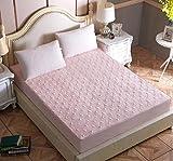 XLMHZP Hochwertiges Spannbettlaken,100% Baumwolle Durchlässiger gesteppter Matratzenbezug Verstellbarer elastischer Gürtel Spannbetttuch Weiches Bettlaken Maschinenwaschbar King-E_100cmx200cm + 30cm
