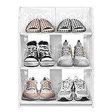 Mehrzweck-Schuhregal, Home Carved Schuhschrank Aufbewahrungsorganisator, Weiß, 40 x 23 x 71 cm