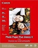 Canon Fotopapier, 20 Blatt 21 x 29, Hochglänzend glossy, PP-201 Photo Paper Plus Glossy II 260g, A4 210x297, PP201