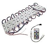 YXHL® 12V LED Modul Licht mit Fernbedienung, (20 STK./Pack) SMD 5050 LED Modul, Wasserdicht IP67, Verträumte Farben Verwendet für Werbeschilder Leuchtkästen Küche Schrank