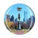 3D Boston USA Kühlschrankmagnet, Souvenir, Kristallglas, Magnet, Reise-Souvenir, Sammlung, Geschenk, Heimküchendekoration