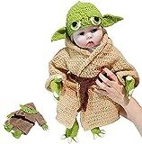 Yueff, Yoda-Säuglingskostüm für Babys, handgestrickter Anzug, Kleinkind-Yoda, Halloween-Kostüm, Cosplay, für Alter 0-6 Monate, Baby, Junge, Mädchen L