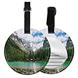Kofferanhänger Koffer Canada Ohara Lake Yoho National Park mit Bergen Naturlandschaft Kunst Foto Leder Gepäckanhänger Paketetikett (ein Stück)
