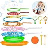 Joyibay Seifenblasen Set für Kinder, 15 Stücke Seifenblasen Blase Zauberstab Einstellen Seifenblasen für Indoor und Outdoor Bubble Maker Spiele, Perfekt für Kindergeburtstag, Partys, Hochzeit