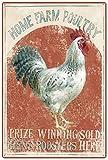 Original Vintage Design Preis Gewinner S Hens Hähne Zinn Metall Zeichen Wandkunst , Dickes Weißblech drucken Poster Wanddekoration für Fram,30x20cm