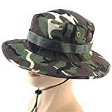 WAZHX Camouflage Tactical Cap Militär Boonie Hut Us Army Caps Camo Men Outdoor Sport Sun Bucket Cap Angeln Wandern Jagdhüte 60Cm Camouflage
