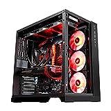 XINKO PC Gehäuse Midi Tower mit Gehärtetes Glas Case Modding für High End Gaming PC