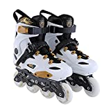 XJBHD Inline Skates für Damen,Herren und Kinder,Inliner Rollen Enthalten Verdickung Aluminium-Schiene und Gemütlich Hochgeschnittene Manschette Liners