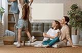 Infrarotheizung Weiß mit Thermostat - TÜV & 15 Jahre Garantie - Infrarot Heizung Heizstrahler Panel Heizkörper IR Heizplatte Deckenmontage Wandmontage (1050 Watt + Thermostat)