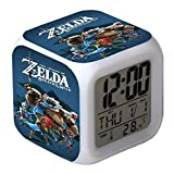 Zelda Wecker The Legend of Zelda: Breath of the Wild Kinder Wecker Wake Up Snooze Nachttisch LED Nachtlicht Uhr
